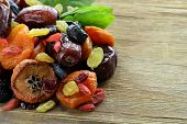 stock photo of dry fruit  - Assorted dried fruits  - JPG