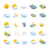 image of cold-weather  - Vector illustration weather icon set isolated on a white background - JPG
