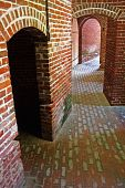 pic of martello  - Passage ways through an old Civil War fort - JPG