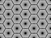 stock photo of hexagon pattern  - Design seamless monochrome hexagon pattern - JPG