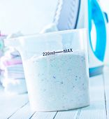 foto of detergent  - detergent for a laundry washer in plastik box - JPG