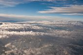 stock photo of andes  - Andes Mountains aerial view  - JPG