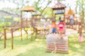 pic of public housing  - Defocused and blur image of children - JPG