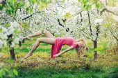 foto of levitation  - Romantic levitating blonde beauty - JPG