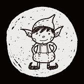 foto of elf  - Christmas Elf Doodle - JPG