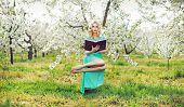 pic of levitation  - Romantic levitating blonde beauty - JPG