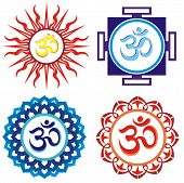 foto of ohm  - Vector indian spiritual sign ohm - JPG