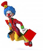 pic of circus clown  - Fun clown - JPG