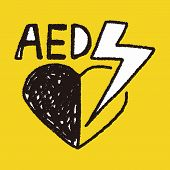 picture of defibrillator  - Aed Doodle - JPG