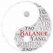 stock photo of yin  - Yin Yang Balance Symbol  - JPG