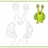 pic of maggot  - Connect the dots and coloring page  - JPG