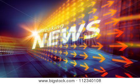 Graphical Modern Digital World News Background Iii