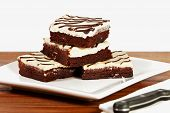 Cream Cheese Icing brownies