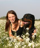 Girl And Rottweiler