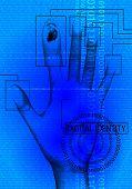 Постер, плакат: Цифровая идентичность голубой