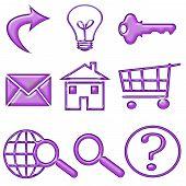 Puffy Purple Gel Web Buttons