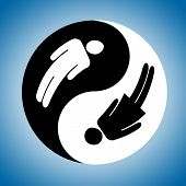 stock photo of ying yang  - Symbol of yin and yang of the background - JPG