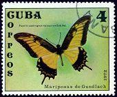 Estampilla vintage. Papilio Androgeus Dios de Epidauro. Sal.