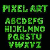 Постер, плакат: Set Of Pixel Letters