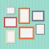 Постер, плакат: Photo frames vector flat illustration