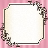 Vintage rococo frame in pink