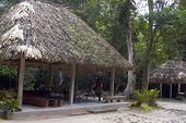 Outdoor Bathrooms Rest Area Tikal Guatemala