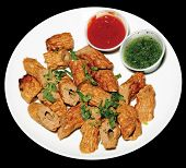 stock photo of kababs  - freah hot and spicy chicken kabab for lunch time - JPG