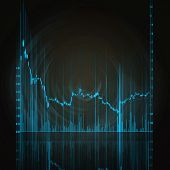 foto of stock market data  - illustration of the red stock market chart - JPG