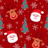 foto of rudolph  - Seamless christmas pattern - JPG