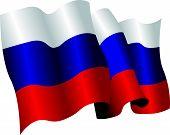 Russland-Flagge