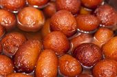 pic of jamun  - Close up photo of delicious indian sweets - JPG