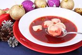 Traditional polish red borscht poster