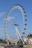 LONDON - MAY 29: The London Eye on May 29, 2011 in the capital city of London.  The London Eye is th