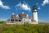 picture of cape-cod  - Truro lighthouse located on Cape Cod - JPG