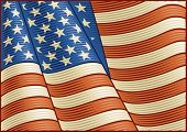 Vintage American Flag (close up)