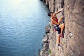 Climber Over The Water poster