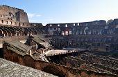 Inside the Colosseum/Coliseum - Flavius Amphitheatre in Rome, Italy