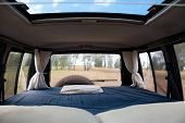 Comfortable Bed In 4Wd Campervan