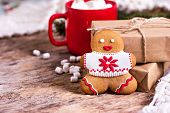 Christmas Cookies. Christmas Cookies With Festive Decoration. poster