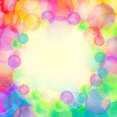 Rainbow Colored Watercolor Confetti Pattern. Dense Watercolor Confetti poster