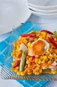 corn salad with salted egg spicy-sour dressing poster