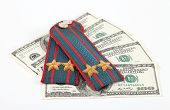 Shoulder Strap Of Russian Police And Money