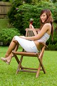Outdoors With Wine poster