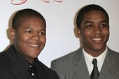 SANTA MONICA, CA - OCTOBER 04: Kyle Massey and his brother Christopher Massey at the Lili Claire Foundation's 11th Annual Benefit Dinner on October 4, 2008 in Santa Monica, California