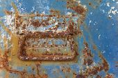 old rusted metal box with clutch