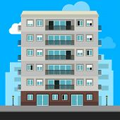 Apartment. Urban Family Home Classic Building Vector Illustration Stock Illustration. Apartment, Bui poster