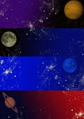 Planet banners