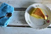 Traditional French Creme Brulee Dessert With Caramelized Sugar On Top/ Croatian Rozata/ Rozada poster