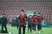 Official training of AS Roma
