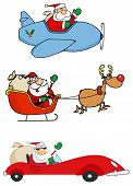 Happy Santa Claus Transportation